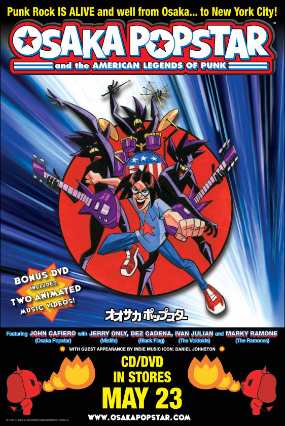 Osaka Popstar and the American Legends of Punk CD release poster