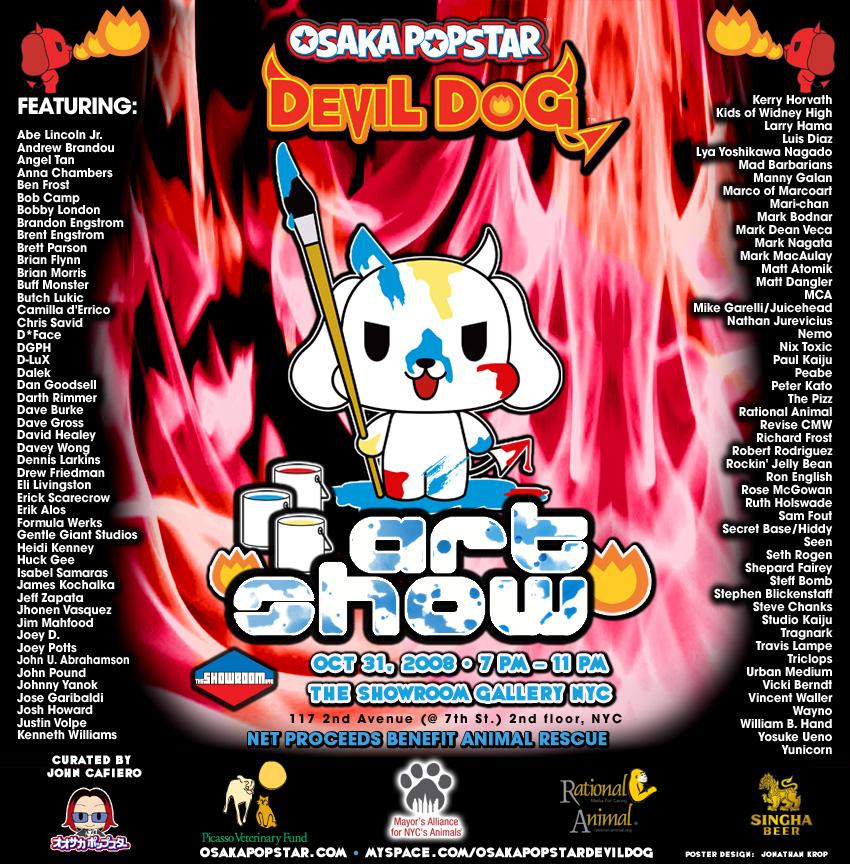 Osaka Popstar Devil Dog Art Show Poster
